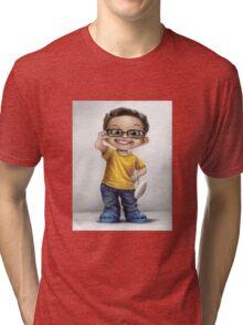 glasses kid Tri-blend T-Shirt