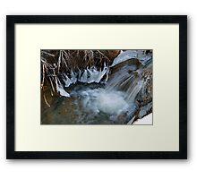 Big Bear Water Flow Framed Print