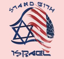 Stand With Israel - lettered T-Shirt