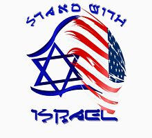 Stand With Israel - lettered Womens Fitted T-Shirt