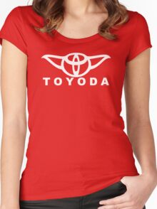 Toyoda Parody Ears Yoda  Women's Fitted Scoop T-Shirt