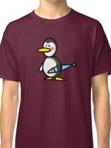 Funny penguin & fish Classic T-Shirt