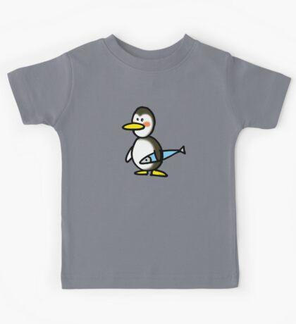 Funny penguin & fish Kids Tee