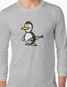 Funny penguin & fish Long Sleeve T-Shirt