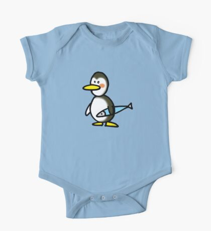 Funny penguin & fish One Piece - Short Sleeve