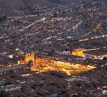 Cusco at Night by boydhowell