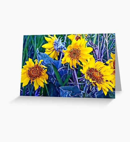 Impressions of Springtime Greeting Card