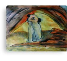 Africa's Pairrie dog, watercolor Canvas Print