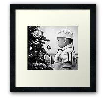 At Christmas in Black and White Framed Print