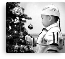 At Christmas in Black and White Canvas Print