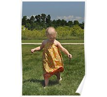 Little Summer Girl Poster