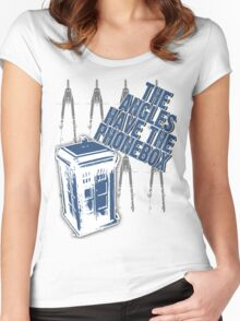 The Angles Have The Phonebox Women's Fitted Scoop T-Shirt