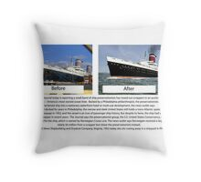 USS United States Throw Pillow