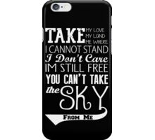 Firefly Theme song quote (white version) iPhone Case/Skin