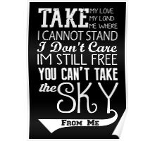 Firefly Theme song quote (white version) Poster