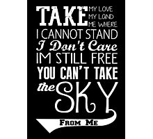Firefly Theme song quote (white version) Photographic Print
