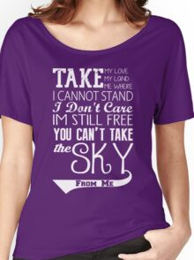 Firefly Theme song quote (white version) Women's Relaxed Fit T-Shirt