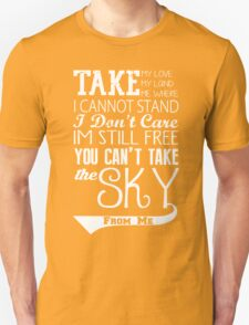 Firefly Theme song quote (white version) T-Shirt