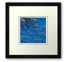 BLUE ZEBRAS Framed Print