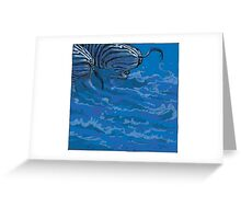 BLUE ZEBRAS Greeting Card