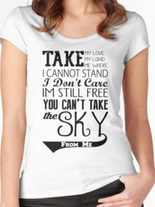 Firefly Theme song quote Women's Fitted Scoop T-Shirt