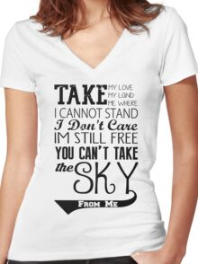 Firefly Theme song quote Women's Fitted V-Neck T-Shirt