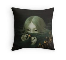 swamp girl lurking Throw Pillow