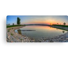 Rocky Mountain Sunset Series - Orange Sky Panorama Canvas Print