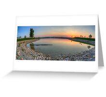 Rocky Mountain Sunset Series - Orange Sky Panorama Greeting Card