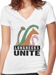 Longnecks Unite Women's Fitted V-Neck T-Shirt