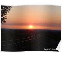 'Sunset on the Rails' - Mundijong WA Poster