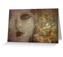 Golden Metamorphosis Greeting Card