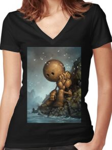 Introversion Women's Fitted V-Neck T-Shirt