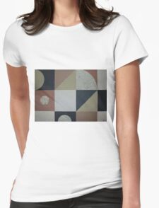 Abstract geometric collage Womens Fitted T-Shirt