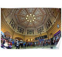 Flinders St Station • Melbourne • Australia Poster