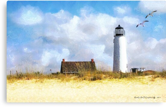 St. George Island Lighthouse (art, poetry & music) by Rhonda Strickland