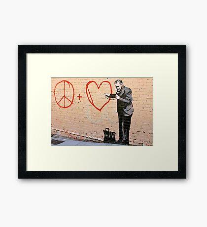 Banksy - Doctor Love - San Francisco, CA 2010 Framed Print