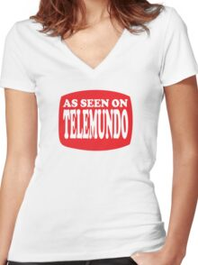 Funny Shirt As Seen On Women's Fitted V-Neck T-Shirt