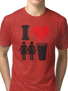 Funny Shirt Two Girls One Cup  Tri-blend T-Shirt