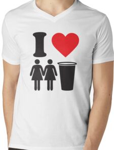 Funny Shirt Two Girls One Cup  Mens V-Neck T-Shirt