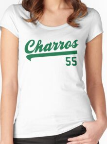 Funny Shirt Kenny Powers Charros Team Women's Fitted Scoop T-Shirt
