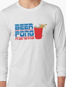 Funny Shirt - Beer Pong  Long Sleeve T-Shirt