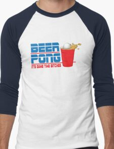 Funny Shirt - Beer Pong  Men's Baseball ¾ T-Shirt