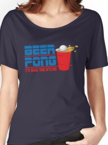 Funny Shirt - Beer Pong  Women's Relaxed Fit T-Shirt