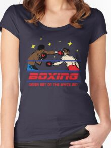 Funny Shirt - Boxing Women's Fitted Scoop T-Shirt
