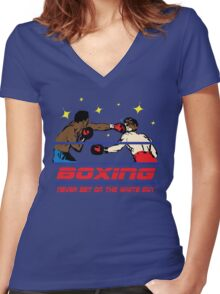 Funny Shirt - Boxing Women's Fitted V-Neck T-Shirt