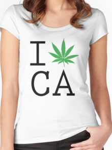 Funny Shirt - I Love California Women's Fitted Scoop T-Shirt