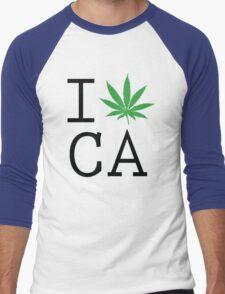 Funny Shirt - I Love California Men's Baseball ¾ T-Shirt