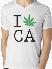Funny Shirt - I Love California Mens V-Neck T-Shirt