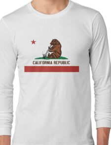 Funny Shirt - California State Flag Long Sleeve T-Shirt